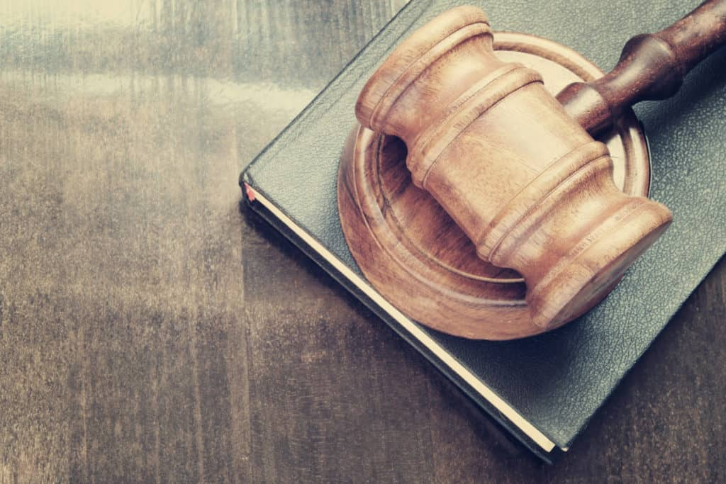 photo of a gavel and book